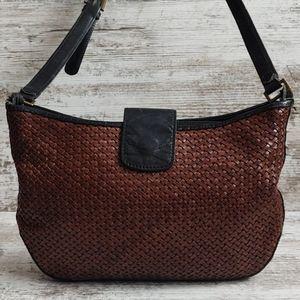 ⚀Vintage Talbots Italian Woven Leather Purse